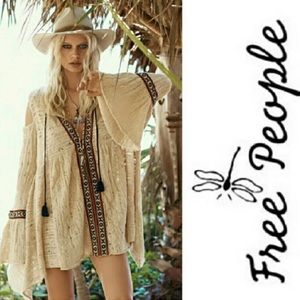 Free People embroidered hippie tunic